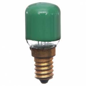 Lampada 15W verde E14 per illuminazione presepi s1