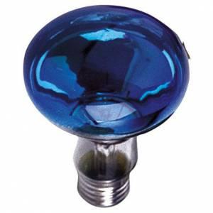 Lampada fascio diffuso 80° blu E27 illuminazione presepi s1