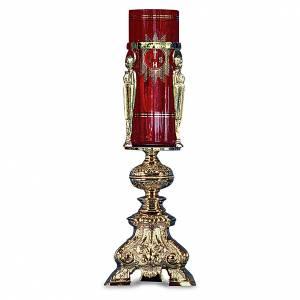 Lampes de Sanctuaire: Lampe pour tabernacle laiton moulé doré h 38 cm