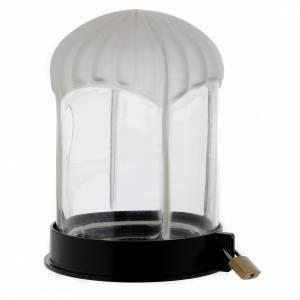 Lumini votivi: Lanterna cimiteriale nera Lumada per candela