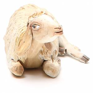 Laying sheep 18cm, Angela Tripi Nativity figurine s4