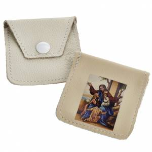 Leather rosary case with image s1
