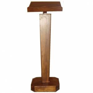 Lecterns: Lectern, column in solid wood, adjustable height