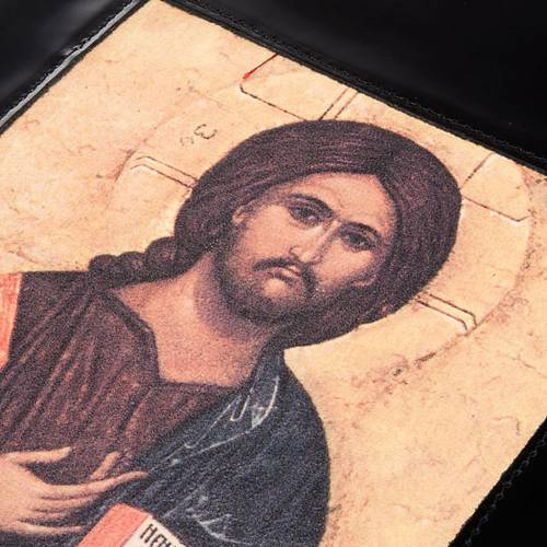 Lectionary cover, black leather Christ Pantocrator s5