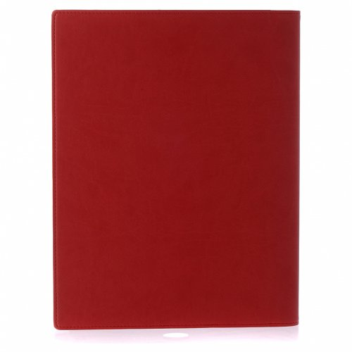 Lectionary cover in real leather, Evangelists, red s3