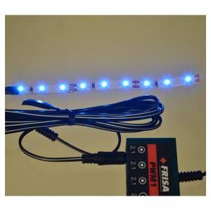 Leds bande 9 micro-leds pour Frisalight bleu 0,8x12 cm s2