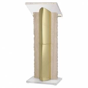 Leggii a colonna: Leggio a stelo ottone plexiglass marmo Molina