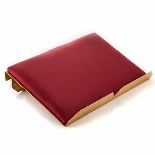 Leggio da mensa cuscinetto ottone dorato croci s3