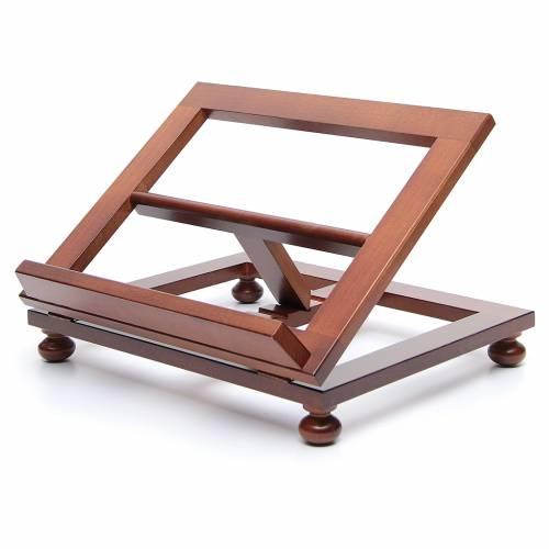 Leggio da tavolo legno noce 35x28 cm s2