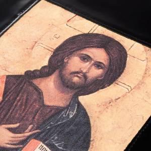 Deckel für Lektionar: Lektionareinband schwarze Leder Kristus Pantocratore