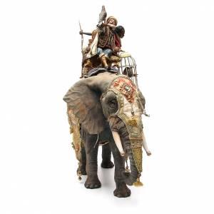 Éléphant avec Roi et serviteur crèche Angela Tripi 30 cm s4
