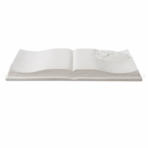 Libro targa per cimiteri marmo sintetico Cristo s3