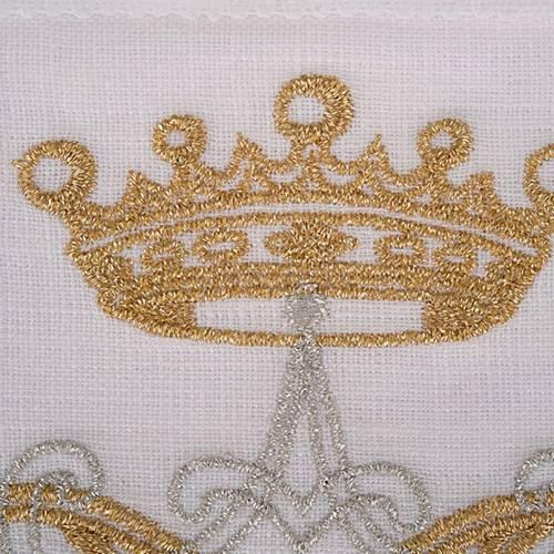 Linge d'autel symbole Marial argent et or 4 pcs s3