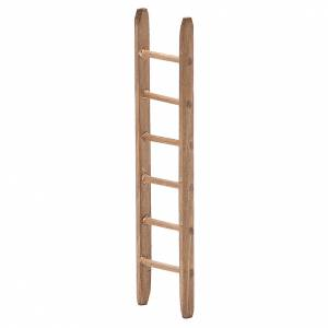 Little Ladder for nativity in dark wood h. 14x3,5cm s2
