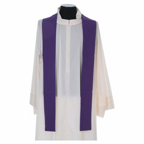 Liturgical chasuble with cross, grapes and lamp s8