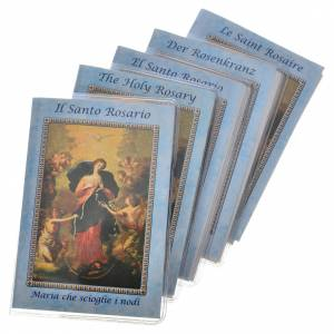 Calendriers et Livres religieux: Livre Saint Rosaire Marie qui défait les noeuds 6,5x9,5cm IT