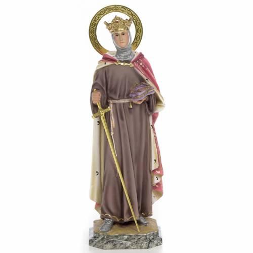 Louis IX of France wooden paste 40cm, fine finish s1
