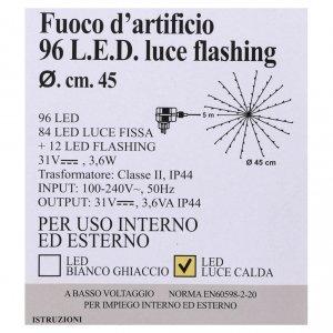 Luce Fuoco Artificio 96 Led Bianco caldo interno esterno s5