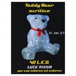 Luce natalizia orso 40 Led interno esterno h. 27 cm s6