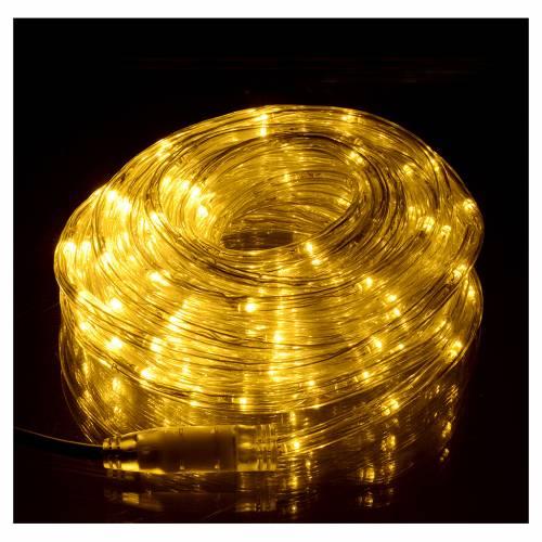 Luce natalizia tubo led bianco caldo 10 mt programmabile esterno s2