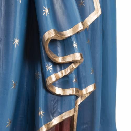 Madonna con bimbo manto blu rosso 85 cm marmo sintetico dipinto s6