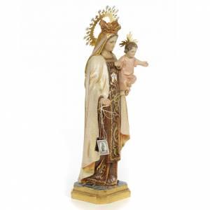Madonna del Carmelo 40 cm pasta di legno dec. extra s4