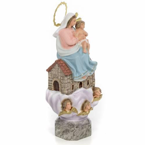 Madonna di Loreto 20 cm pasta di legno dec. elegante s2