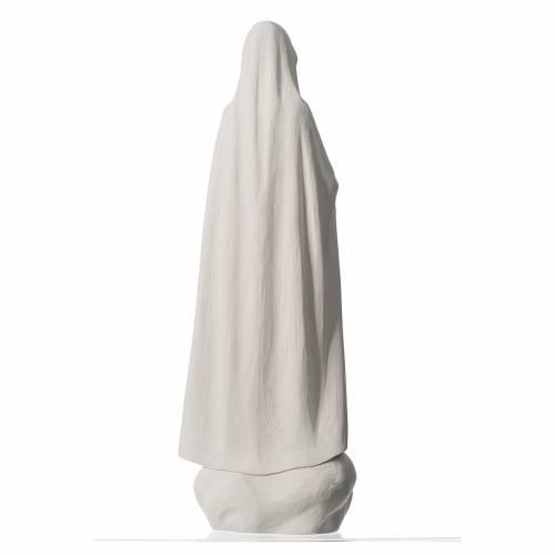 Madonna Fatima 60 cm polvere di marmo bianco s4