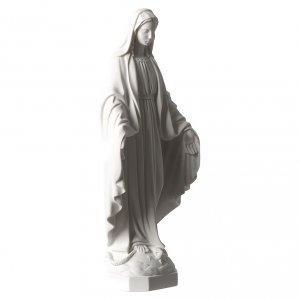 Madonna Miracolosa marmo sintetico bianco Carrara 35 cm s4