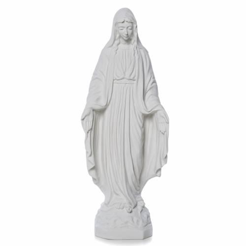Madonna Miracolosa marmo bianco Carrara s1