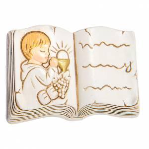 Bonbonniere: Magnet Buch Erstkommunion Junge 5cm