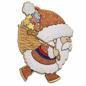 Magnet de frigo Père Noel bois s1