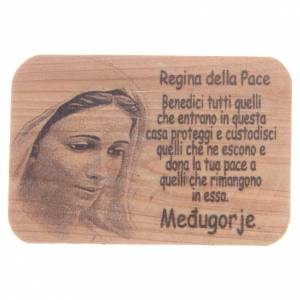 Crosses and magnets: Magnet in Medjugorje olive wood, 7x5cm