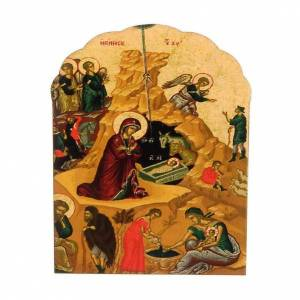 Magnet in wood with Nativity print s1