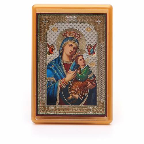 Magnet plexiglass russian Our Lady of Perpetual Help 10x7cm s1