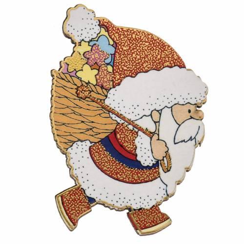 Magnete legno Babbo Natale s1