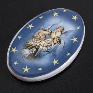 Magnete tondo ceramica angeli custodi s2