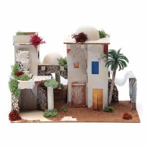 Maisons, milieux, ateliers, puits: Maison arabe avec miroir de 25x35x20 cm