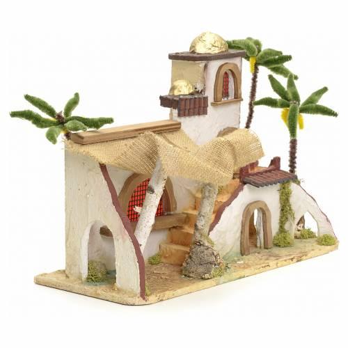Maison arabe en miniature stucquée avec tente 30x43x18 s3