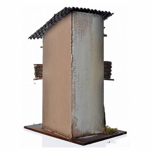 Maison bleue pour crèche 21x16x25 cm s3