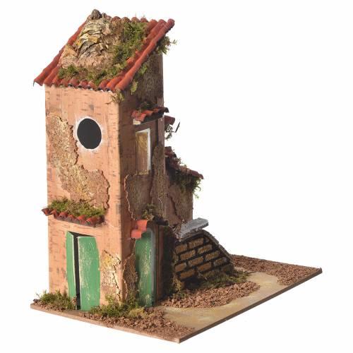 Maison décor crèche 25x21x16 cm s2