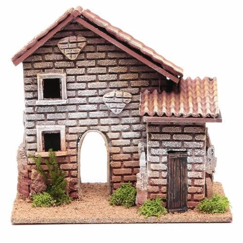 Maison double crèche 20x23x14 cm pour 6 cm s1
