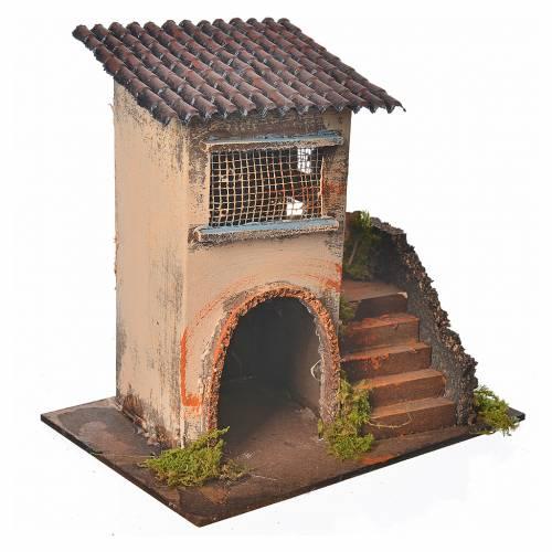 Maison orange avec escalier 20x12x19 cm s2