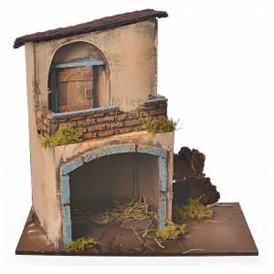 Maison orange avec grand arc 28x15x27 cm s1