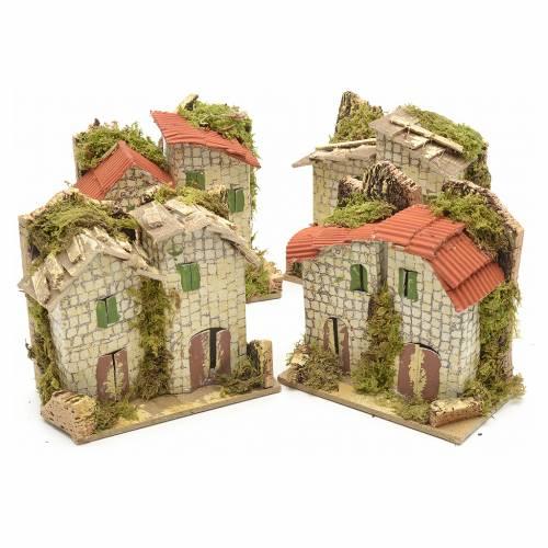 Maison pierre en miniature pour crèche de Noel 10x6 cm s5