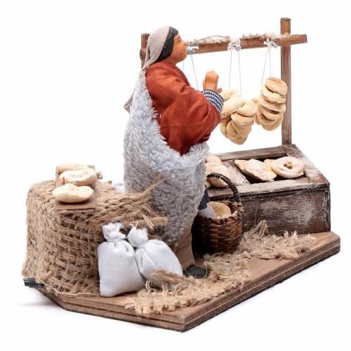 Man making taralli, animated Neapolitan Nativity figurine 12cm s3