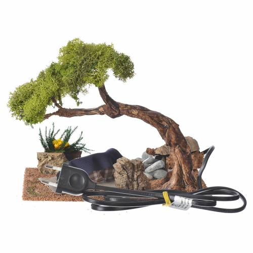 Man sleeping with fire and oak, 10cm s2