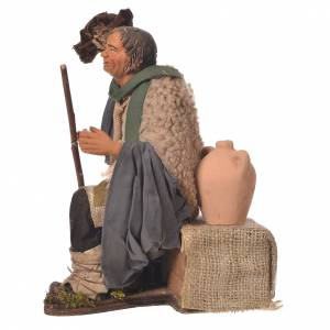 Man taking hat off, 30cm Animated Neapolitan nativity s3