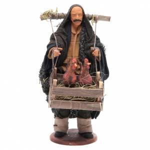 Neapolitan Nativity Scene: Man with hens in a box 14cm Neapolitan Nativity