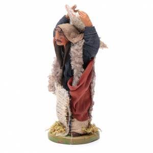 Man with jute sack, Neapolitan nativity figurine 10cm s2